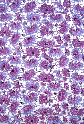 Chrysanthemum Brocade purple and lavender on white