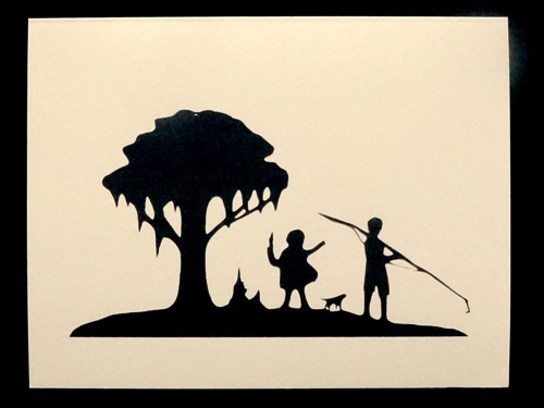 Silhouette by Carew Rice,  folded note card