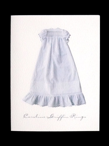 Heirloom Christening Gown folded note card
