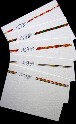 Variety of Washi on Strathmore flat card